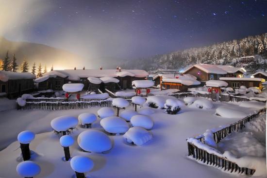 东北冬季风景图片