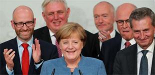 默克尔领导的联盟党获德国联邦议院选举最多选票