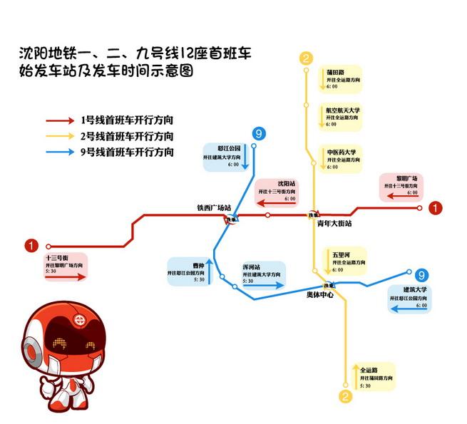 好消息!沈阳地铁九号线本周六开通试运营
