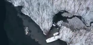 美呆!航拍湖北神农架雪后大九湖感兴趣,宛如一幅水墨画[播放]